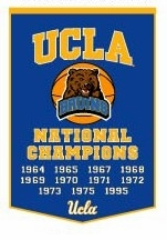 UCLA Bruins 24 x 36 Basketball Dynasty Wool Banner