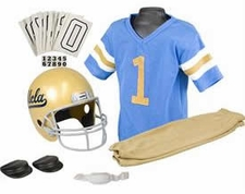 UCLA Bruins Deluxe Youth / Kids Football Helmet Uniform Set