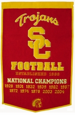 USC Trojans 24 x 36 Football Wool Dynasty Banner
