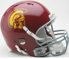 USC Trojans Riddell Revolution Authentic Helmet