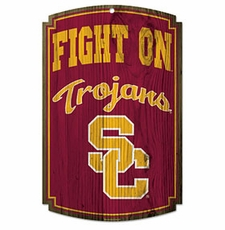 USC Trojans Wood Sign