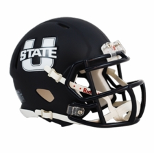 Utah State Aggies Navy Riddell Speed Mini Helmet