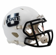 Utah State Aggies White Riddell Speed Mini Helmet