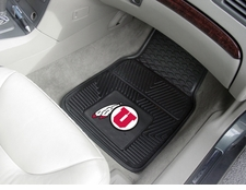 Utah Utes 2-Piece Heavy Duty Vinyl Car Mat Set