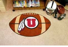 "Utah Utes 22""x35"" Football Floor Mat"