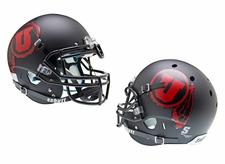 Utah Utes Black Red U Schutt XP Authentic Helmet