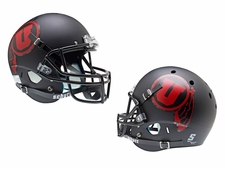 Utah Utes Black Red U Schutt XP Full Size Replica Helmet