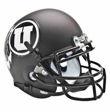 Utah Utes Black w/ White Logo Schutt Authentic Mini Helmet