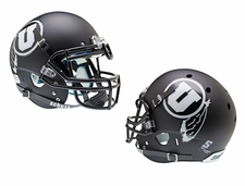 Utah Utes Black White U Schutt XP Authentic Helmet
