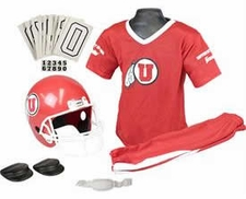 Utah Utes Deluxe Youth / Kids Football Helmet Uniform Set