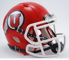 Utah Utes Red Riddell Speed Mini Helmet