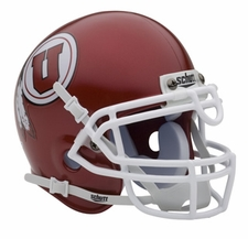 Utah Utes Red Schutt Authentic Mini Helmet