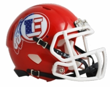 Utah Utes Star and Stripes Riddell Speed Mini Helmet