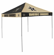 Vanderbilt Commodores Black / Gold Checkerboard Logo Canopy Tailgate Tent