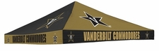 Vanderbilt Commodores Black / Gold Checkerboard Logo Tent Replacement Canopy