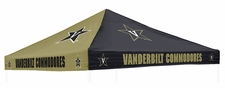 Vanderbilt Commodores Black / Gold Logo Tent Replacement Canopy