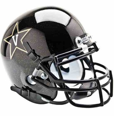 Vanderbilt Commodores Black Schutt Authentic Mini Helmet