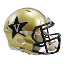 Vanderbilt Commodores Gold Riddell Speed Mini Helmet
