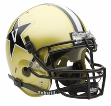 Vanderbilt Commodores Schutt Authentic Full Size Helmet