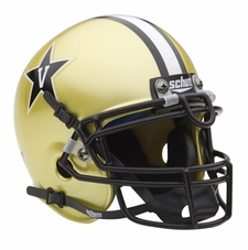 Vanderbilt Commodores Gold Schutt Authentic Mini Helmet