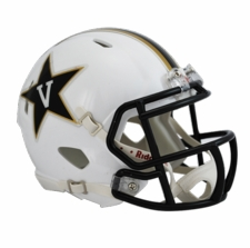 Vanderbilt Commodores White Riddell Speed Mini Helmet