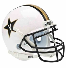 Vanderbilt Commodores White Schutt Authentic Mini Helmet