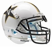 Vanderbilt Commodores White Schutt XP Authentic Helmet