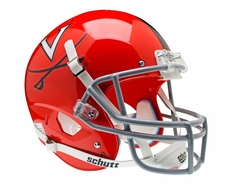 Virginia Cavaliers Orange Gray Mask Schutt XP Full Size Replica Helmet