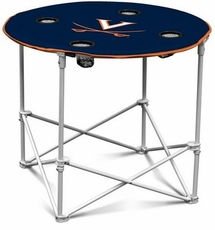 Virginia Cavaliers Round Tailgate Table