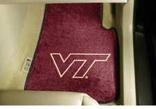 Virginia Tech Hokies 2-Piece Carpeted Car Mats Front Set