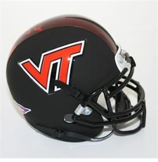 Virginia Tech Hokies Black Schutt Authentic Mini Helmet
