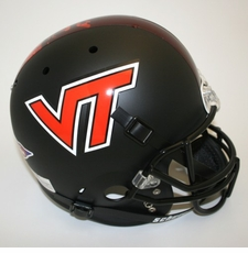 Virginia Tech Hokies Black Schutt Full Size Replica Helmet