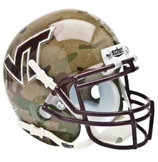 Virginia Tech Hokies Camo Schutt Authentic Mini Helmet