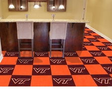 Virginia Tech Hokies Carpet Tiles - 20 18x18 Square Tiles