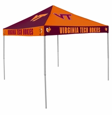 Virginia Tech Hokies Maroon / Orange Checkerboard Logo Canopy Tailgate Tent