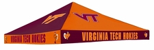 Virginia Tech Hokies Maroon / Orange Checkerboard Logo Tent Replacement Canopy