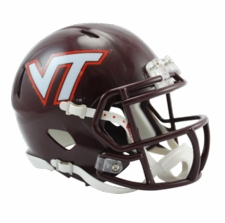 Virginia Tech Hokies Maroon Riddell Speed Mini Helmet