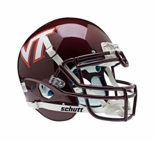 Virginia Tech Hokies Maroon Schutt XP Authentic Helmet
