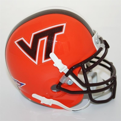 Virginia Tech Hokies Orange Schutt Authentic Full Size Helmet