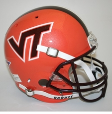 Virginia Tech Hokies Orange Schutt Full Size Replica Helmet