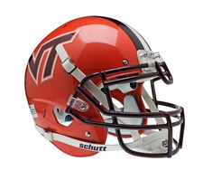 Virginia Tech Hokies Orange Schutt XP Authentic Helmet