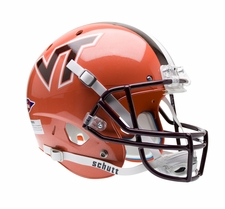 Virginia Tech Hokies Orange Schutt XP Full Size Replica Helmet