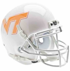Virginia Tech Hokies Pale Orange Schutt Authentic Mini Helmet