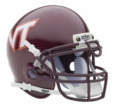 Virginia Tech Hokies Maroon Schutt Authentic Mini Helmet
