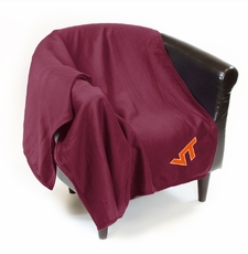 Virginia Tech Hokies Sweatshirt Throw Blanket