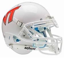 Virginia Tech Hokies White Pale Orange Schutt XP Authentic Helmet