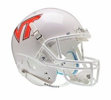 Virginia Tech Hokies White Pale Orange Schutt XP Full Size Replica Helmet