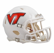 Virginia Tech Hokies White Riddell Speed Mini Helmet