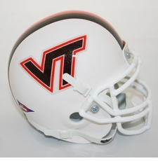 Virginia Tech Hokies White Schutt Authentic Full Size Helmet