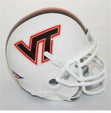 Virginia Tech Hokies White Schutt Authentic Mini Helmet